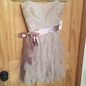 NEW Teeze Me champagne party/homecoming dress